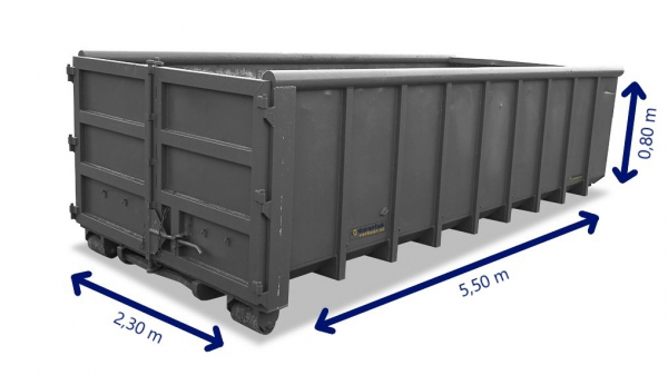 10m3 container huren hout, bouw- en sloopafval, grond, groenafval, asfalt, puin