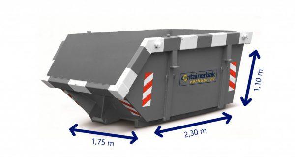 3m3 container huren hout, bouw- en sloopafval, grond, groenafval, asfalt, puin